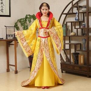 Image 4 - الفاخرة تانغ سلالة زي سحب الذيل محية الجنية المرأة زي مرحلة العروس الصينية الزفاف استوديو موضوع فستان رقص