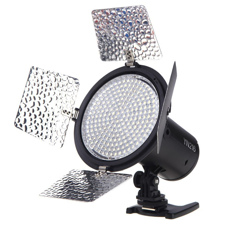 Top Deals YONGNUO YN216 3200K-5500K LED Video Light Camera Shoot with 4 Color Plates for Canon Nikon DSLR Camera yongnuo yn 168 yn168 with 168pcs lamps led camera video light for canon nikon dslr camera photography lighting