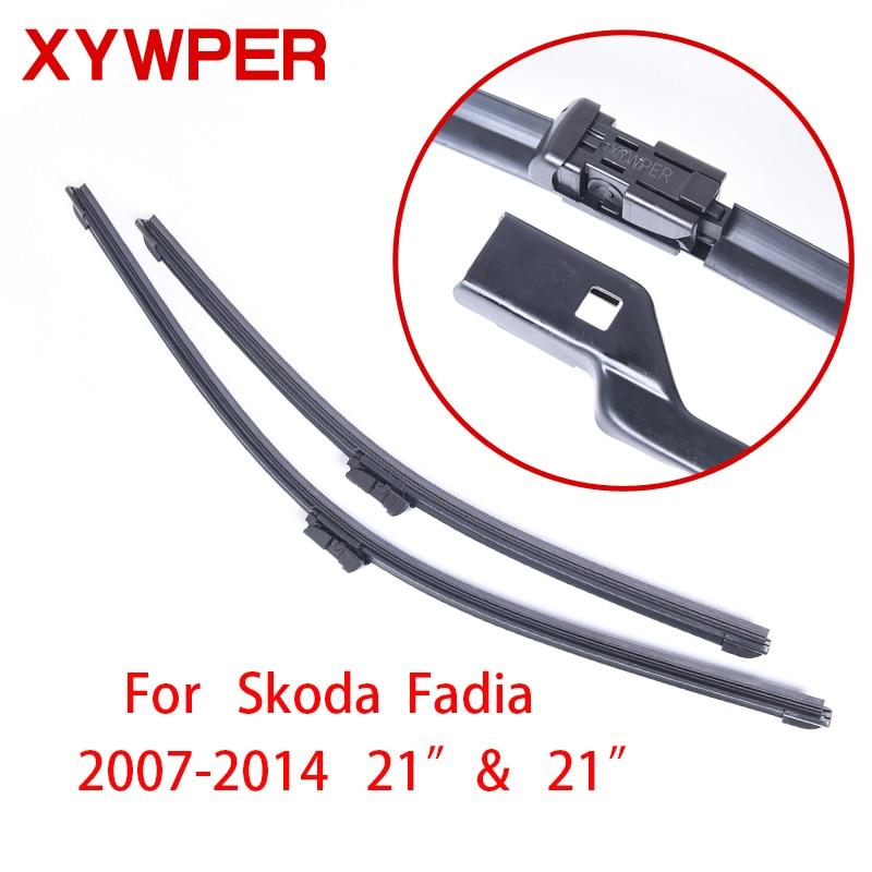 High Quality Windshield Wiper Blades For Skoda Fabia 2007 2014 21 21 Car Accessories Soft Rubber