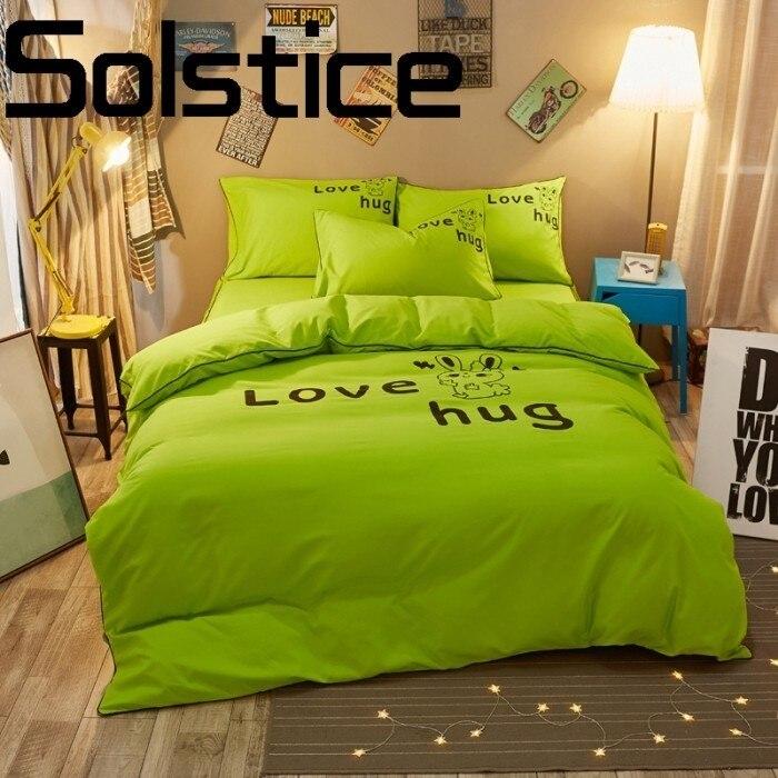 Solstice Home Textile Comfortable soft thick solid color active bedding linen Bed linen Pillow cover Quilt cover 3/4pcs