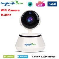 パンチルトワイヤレスipカメラwifi 720 p cctvホームセキュリティカムマイクロsdスロットサポートマイク& p2p無料アプリのためのiphoneアンドロイド