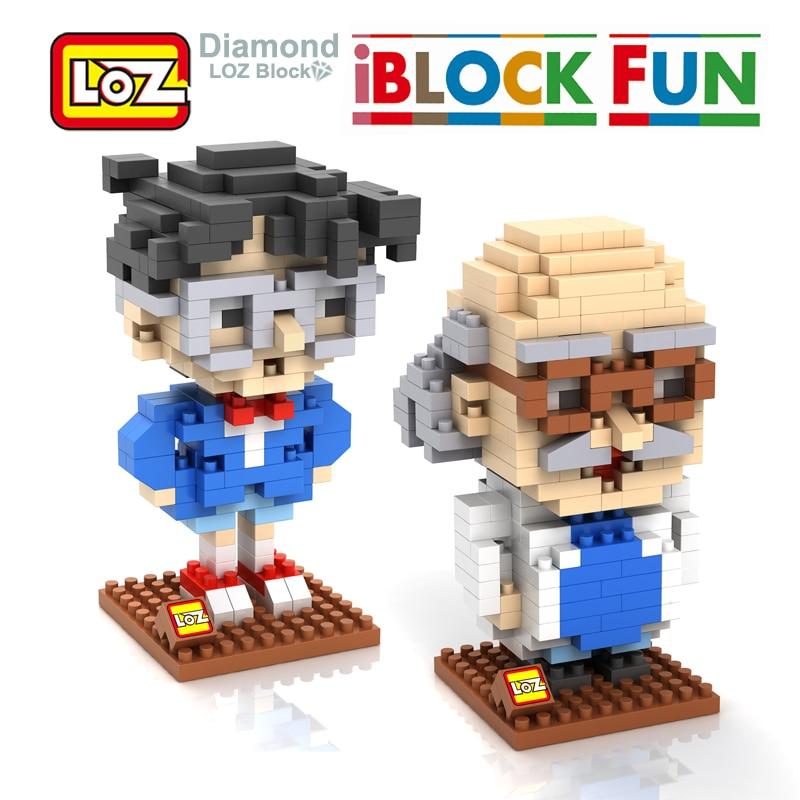 LOZ Detective Conan Case Closed Conan Edogawa Hershel Agasa Diamond Building Blocks Action Figure DIY Toy Child Decoration Toys
