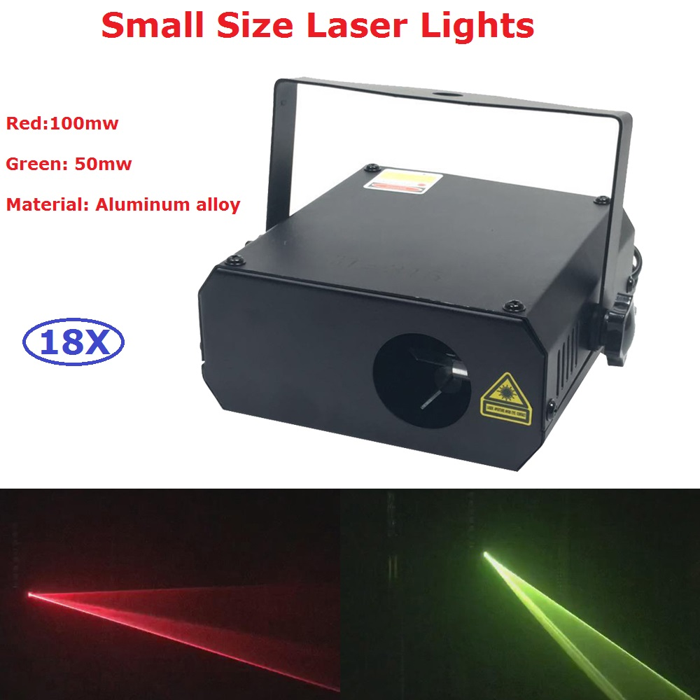 18Pcs/Lot Mini Size LED Stage Laser Projector High Quality 150mw Beam Laser Lights For Party DJ Disco Xmas Events Lighting