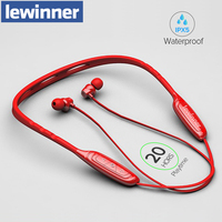 Lewinner W1 Sports Bluetooth earphone with active noise cancelling /Wireless Headset for phones and music