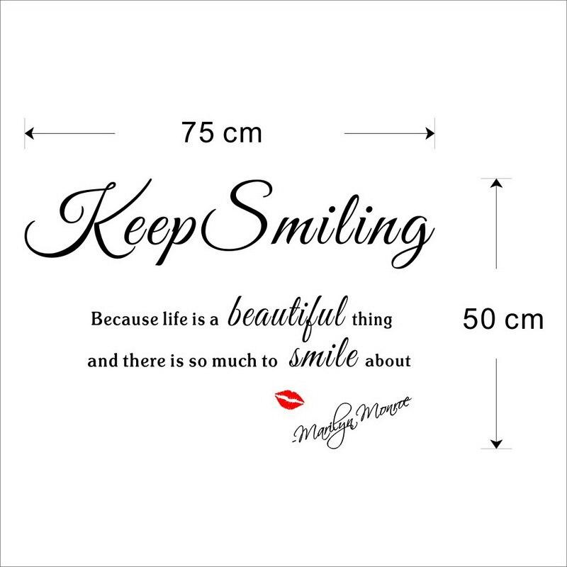 Klassische Rote Lippen Positive Englisch Sprüche Kalligraphie
