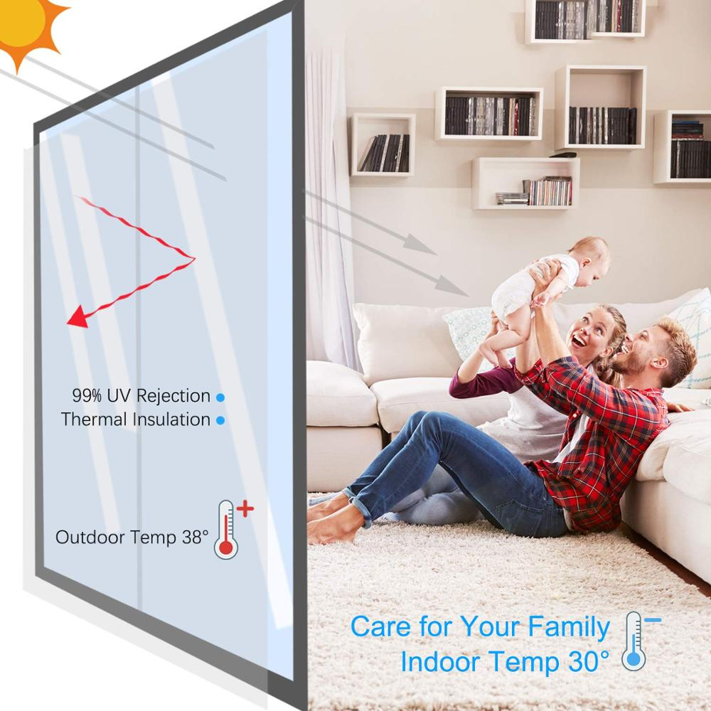 Image 4 - 40/50/60/70/80/90x500 Cm One Way Mirror Window Film,Vinyl Self adhesive Reflective Solar film Privacy Window Tint for Home-in Decorative Films from Home & Garden