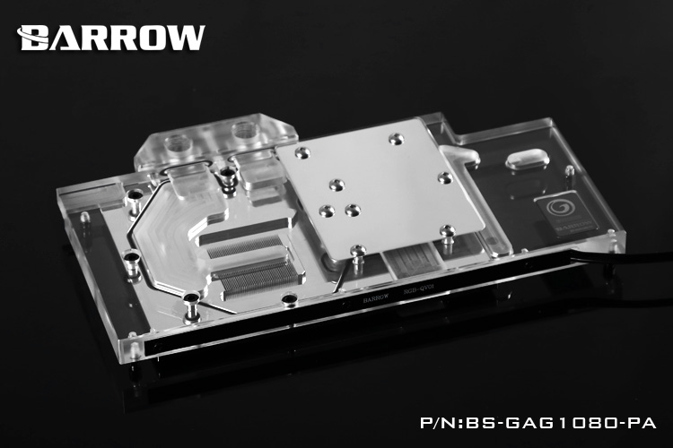 Barrow BS-GAG1080-PA LRC RGB v1/v2 Full Cover Graphics Card Water Cooling Block for GALAXY GTX1080/1070/1060 Gamer qqv6 aluminum alloy 11 blade cooling fan for graphics card silver 12cm