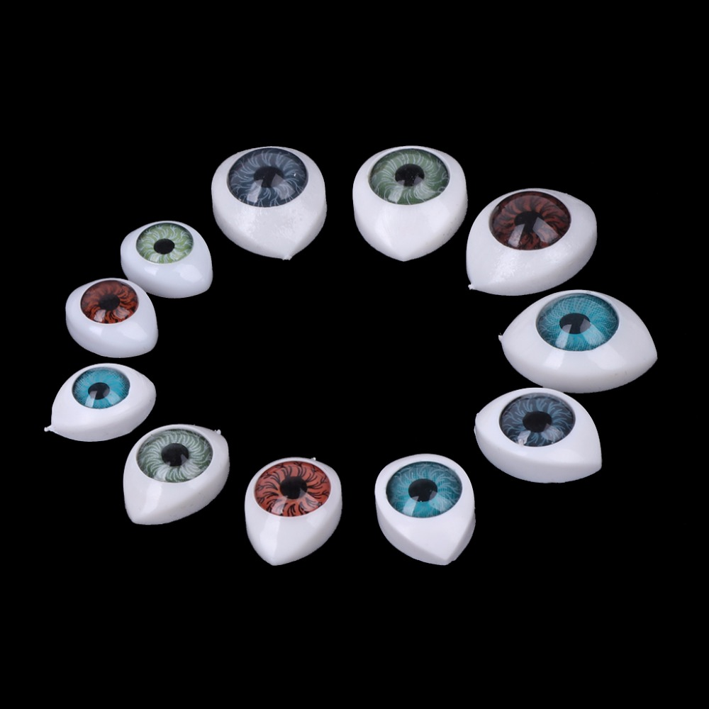 HBB 20Pcs Plastic Doll Safety Eyes For Animal Toy Puppet Making DIY Craft Accessories 100set box 10mm 12mm plastic craft toy doll eyes safety eyes handmade accessories children diy creative toys dolls accessories