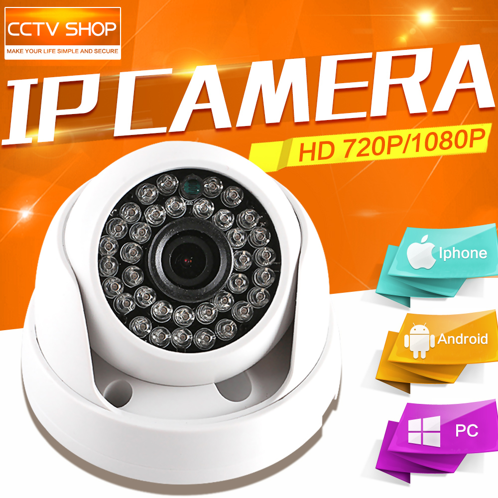 1080P 720P Indoor 2MP 1 0MP Dome IP font b Camera b font Audio WIFI Optional