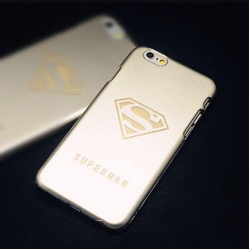 Cases Apple iPhone 6 Plus Back Cover Case Luxury Gold Superman Spiderman Logo Hard iPhone6 Capa - Best-Elec store