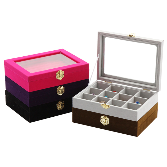Velvet Small Rings Organizer Boxes Jewelry Box Display Jewelry