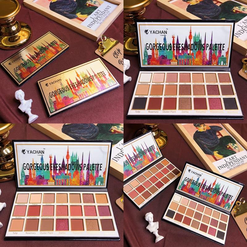 Brand Eyeshadow Palette 21 Colors Shimmer Matte Glitter Eyeshadow Pallete Waterproof Pigment Balm Nude Makeup Palette Cosmetic in Eye Shadow from Beauty Health