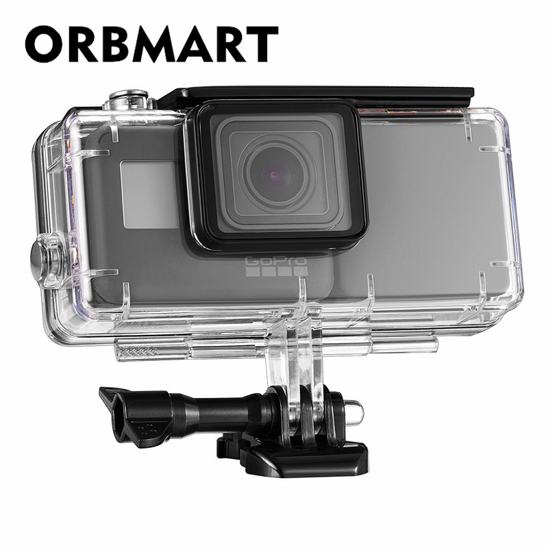 ORBMART Waterproof Protective Case Cover Housing Shell With 2300 mAh Extended Battery Side Power Bank For Gopro Hero 5 6 7 Black 45m waterproof case mount protective housing cover for gopro hero 5 black edition