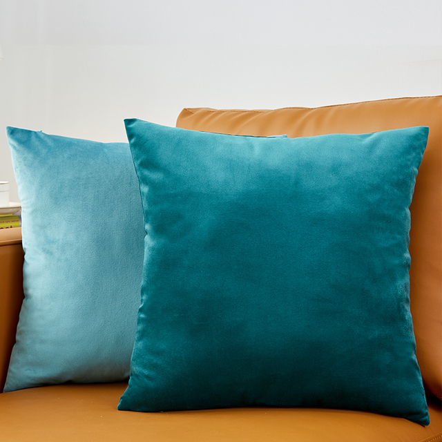 Solid Color Velvet Cushion Cover