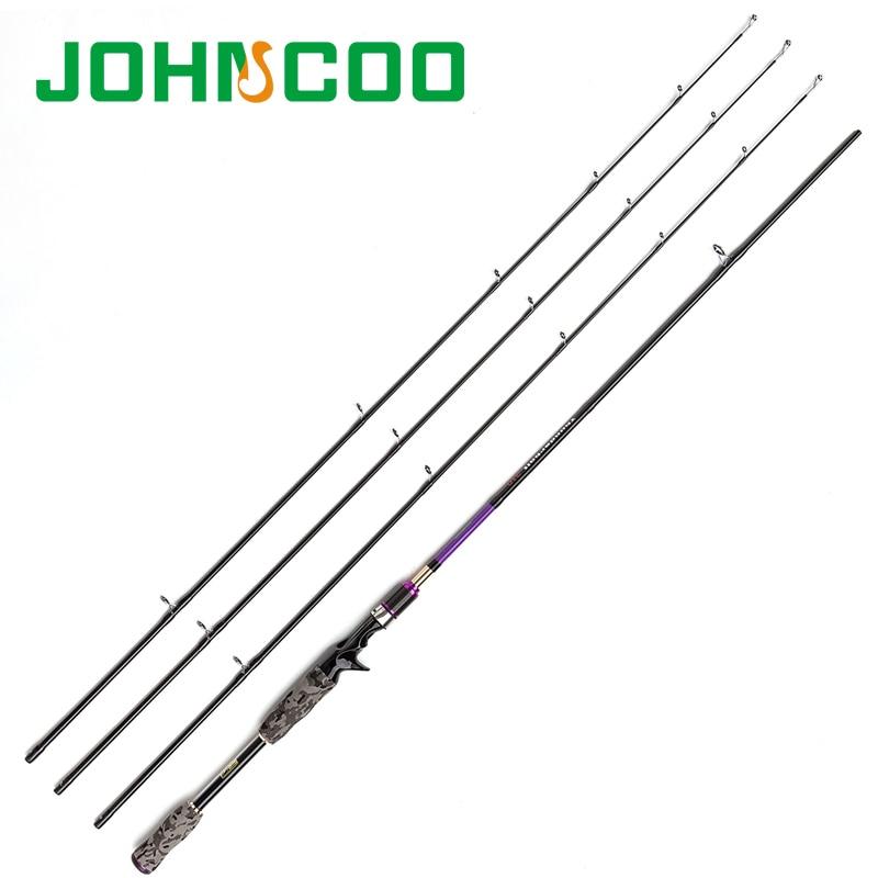 Canne à pêche filature 2.1 m 2.4 m 3 embouts ML M MH 7 'carbone Action rapide canne à pêche filature leurre cannes à pêche Johncoo thunderbolt - 2