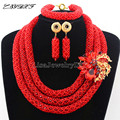 African Statement Necklace Jewelry Sets Nigerian Beads Wedding Jewelry Set Bridal Statement Jewelry Set Free Shipping L1058