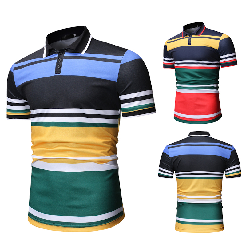 Men   Polo   Shirt New Men's Matching Color   POLO   Shirt for Summer 2019