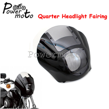 Clear Motorcycle Quarter Front Headlight Fairing for Harley Sportster XL 1200 883 Iron 1986-2017 Dyna Low Rider Super Wide Glide 7 upper fairing cowl windshield headlight mount kit for harley dyna super glide wide glide low rider street bob motorcycle