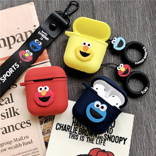 New cartoon cute ornament Keychain for Apple Airpods Accessories Bluetooth Earphone Cover Case Protective Bag