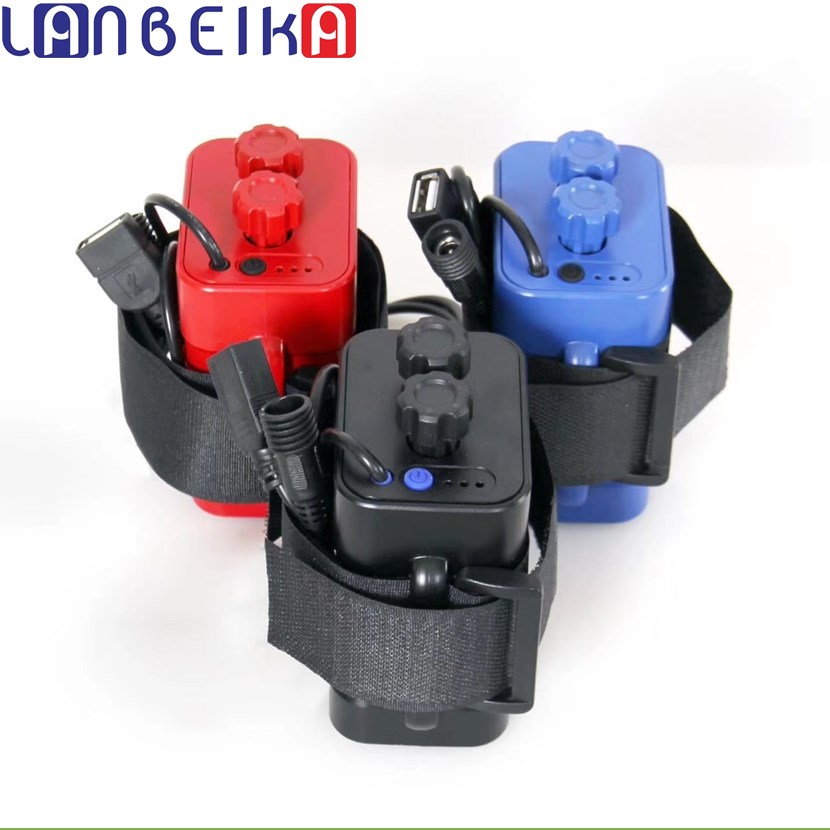 LANBEIKA 6*18650 Ordinary Waterproof Battery Holder for Bike LED Light Plastic Storage Housing Box Case Wire Lead Rechargable
