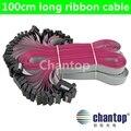 10 pçs/lote 100 cm comprimento da Extensão Do cabo de fita 16 p 2.54mm Pitch cinza 1 metro de comprimento do cabo Flat/cabo de dados para a tela LEVOU placa do sinal