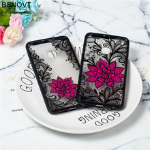For Huawei Honor 8 Case Silicone TPU +PC Lace Rose Flower Phone Case For Huawei Honor 8 Cover For Huawei Honor 8 Funda BSNOVT huawei huawei honor 8 64gb ram 4gb