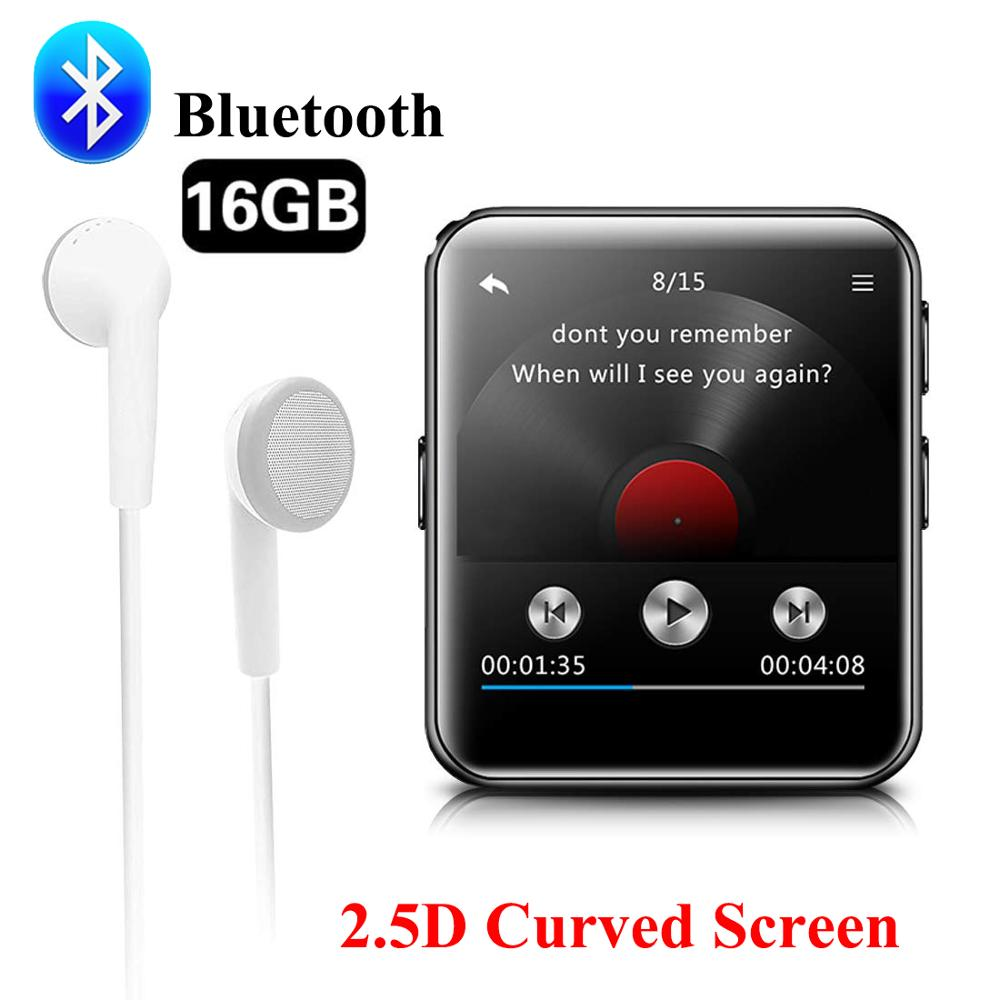Bluetooth Clip MP3 Player Portable Music Player HiFi Metal Audio Player With FM Radio,Voice Record