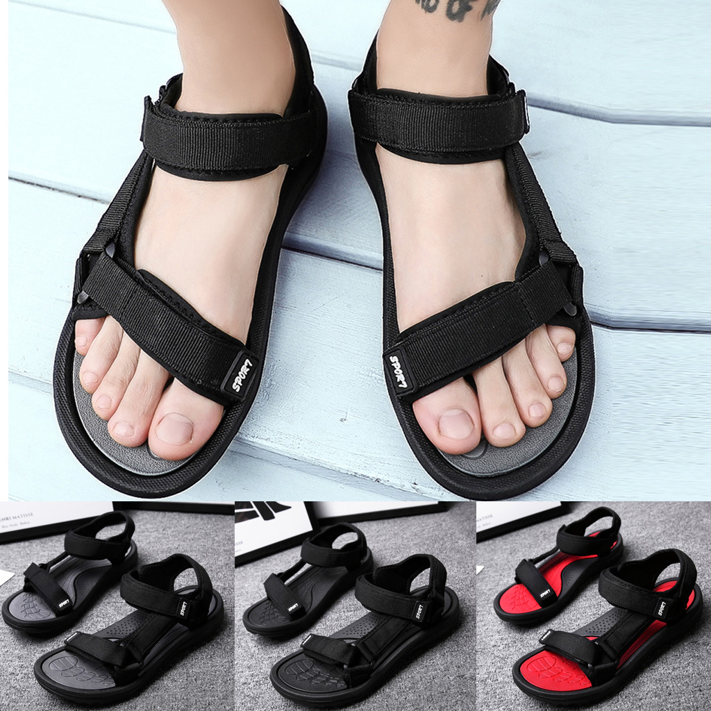 <font><b>Summer</b></font> Soft Big Size <font><b>Sandals</b></font> Comfortable <font><b>Summer</b></font> <font><b>Outdoor</b></font> <font><b>Men</b></font> Flats Casual Beach Athletic Shoes Breathable Sport <font><b>Sandals</b></font> #G4 image