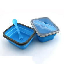 Silicone Collapsible Portable Food Storage Container Large Capacity Bowl Lunch Bento Box Folding Lunch Boxes HHY1(China)