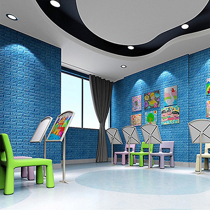 d pegatinas de pared de ladrillo panel paneles de pared adhesivo de espuma suave papel tapiz