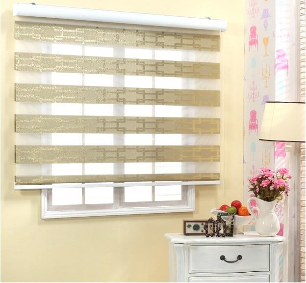 Sri Lanka New Gold Satin Gauze Curtains Blinds Shutter Bamboo Curtain Zebra