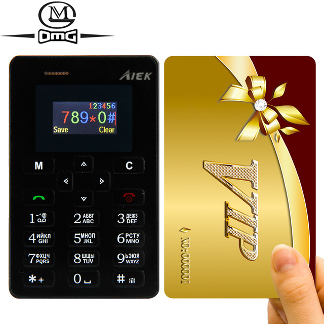 2016 new AEKU AIEK M5 Russian keyboard Ultra Thin Mini card mobile phone Low Radiation Single