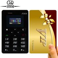 AEKU M5 Card Key Mobile Phone 4 5mm Ultra Thin Pocket Mini Cheap Cell Phones Dual