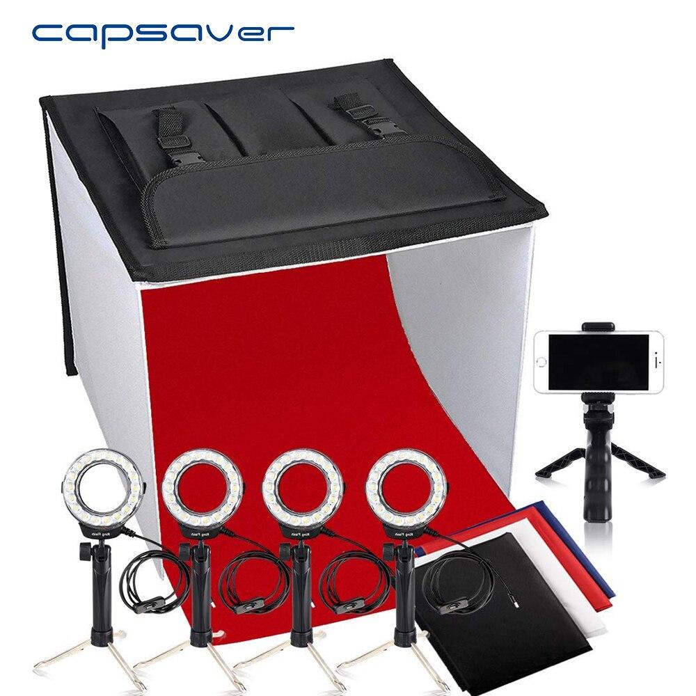 capsaver K60II Photo Box Foldable Light Box Softbox 60cm 3200K/9000K CRI85 Photography Photo Studio Shooting Tent Lightbox-in Photo Studio Accessories from Consumer Electronics    1