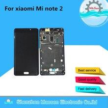 M & Sen Для 5.7 «Xiaomi Note 2 Mi Note 2 ЖК-дисплей экран + Сенсорная панель планшета с рамкой Черный Бесплатная доставка