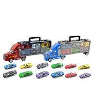 Novo caminhão do recipiente com 6 pcs 12 pcs liga pequeno cars toys para o natal das crianças do presente de aniversário baby toys