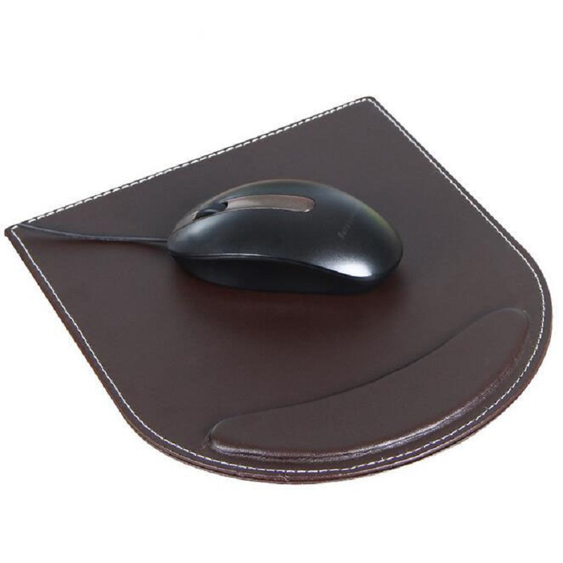 Hot Sale Good PU Leather Mouse Pad Support Wrist Rest Mice Pad Business Laptop Computer Mice Mat Free Shipping