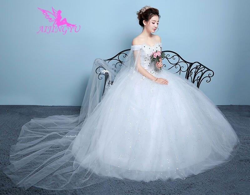 5128e35d3cef9 AIJINGYU 2018 sexy free shipping new hot selling cheap ball gown lace up  back formal bride dresses wedding dress WK207 - TARIFIKLAN.COM
