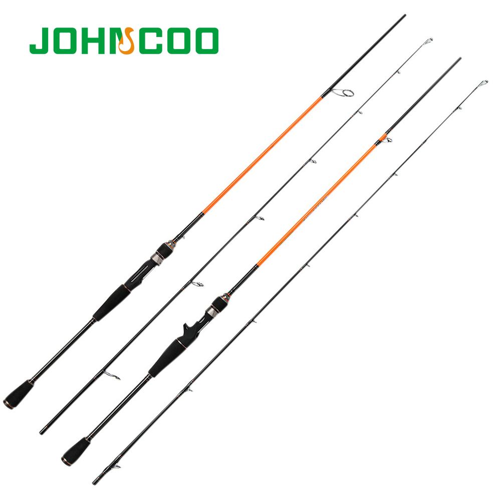 JOHNCOO Spinning Rod For Fishing 2 Section 2.1m M Power Fast Action Fishing Rod Casting Rod 7-21g Goods For Fishing Pole