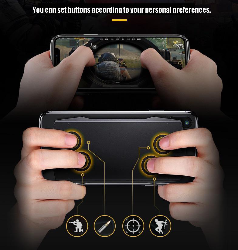 LeadingStar Smart Gamepad Touchpad bluetooth 4.0 pour iOS Android jouer jeu Mobile artefact pour PUBG