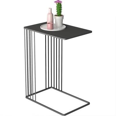 Nordique u-type métal fleur moderne salon canapé créatif en fer forgé côté table basse - 5