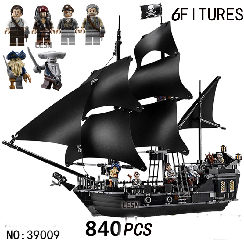 movie Pirates of the Caribbean Series Black Pearl boat DIY Toy ship CompatibleBuilding Blocks toys Kid