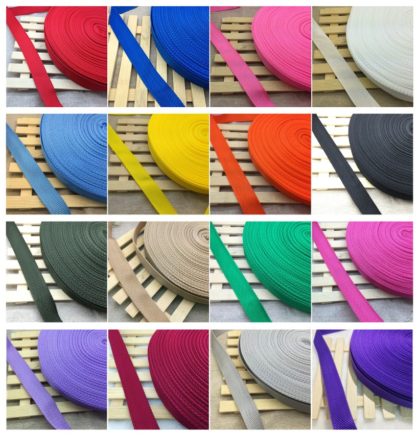 10 Yards/Roll 30mm Wide Strap Nylon Webbing Knapsack Strapping Bags Crafts