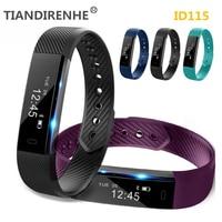 Fitness Tracker ID115 Smart Bracelet Step Counter Activity Monitor Alarm Clock Wristband Smartband PK xiaomi miband2 mi band