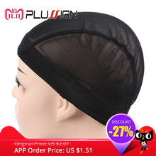 c63d94f624372 5 uniunids lote gorros de peluca para hacer pelucas gran banda elástica  malla cúpula gorra
