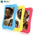 """2016 Оригинал Y3 iRULU 7 """"А33 Babypad 1280*800 IPS Quad Core Android 5.1 Tablet PC 1 Г/16 Г Силиконовый Чехол для дети Конфеты Цвет"""