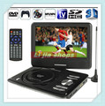 "5pcs/lot  9.8"" inch TFT LCD Screen Digital Multimedia Portable EVD/ DVD with Card Reader, Support Analog TV 3D Movies/Game"