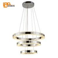 New brief style LED pendant lamp modern crystal pendant lights AC110V 220V lustre home lighting