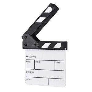 Image 5 - Acryl Generisches Schiefer Cut Prop Clapper Board 16.5*15 Video Szene Rolle Spielen Trockenen Löschen Director TV Film Action film Clapperboard