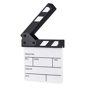 Image 5 - Acrylic Generic Slate Cut Prop Clapper Board 16.5*15 Video Scene Role Play Dry Erase Director TV Movie Action Film Clapperboard